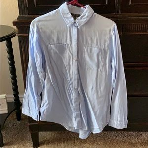 Topshop blue button down shirt